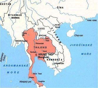 Mapa Mapa Sveta Thajsko